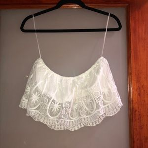 BRAND NEW white lace tube top!